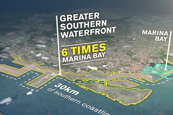 photo of Greater Southern Waterfront map