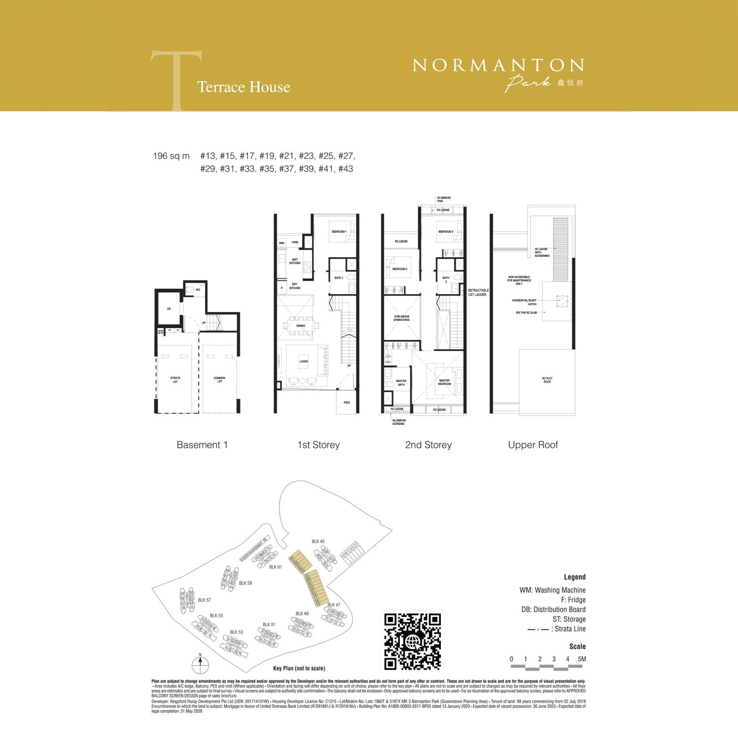 Strata Terrace Houses unit 13 to 43